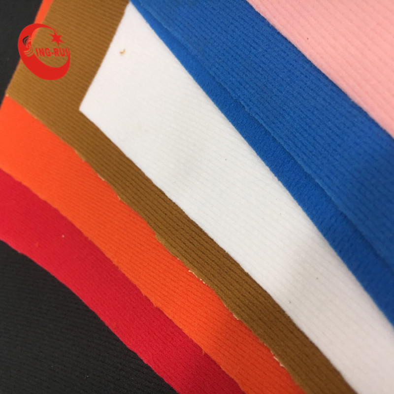 Smooth Shinny Nappa PU leather Woven Backing For  Shoes