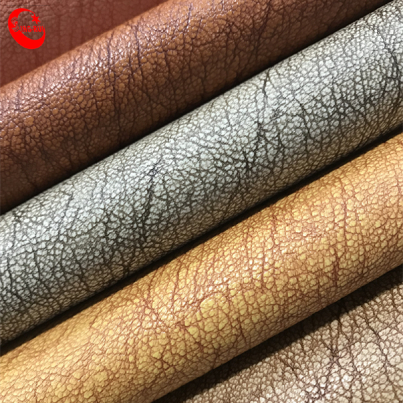 0.8mm PVC with Single Brush Backing for Women Bag Leather
