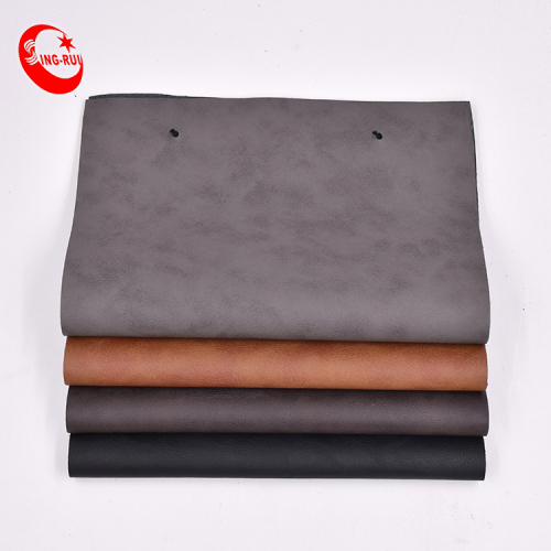 high peeling strength Hydrolysis-resistance Embossed Faux rexine PU synthetic leather surface fabric for making men shoes