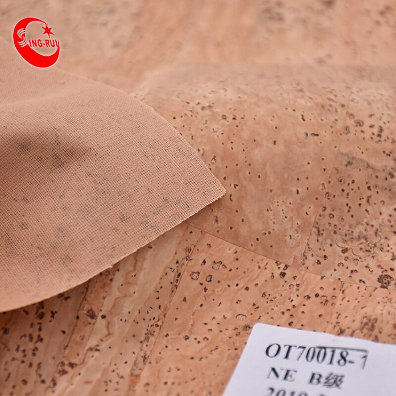 Eco-Friendly Portugal Style Printed Thin Natural Cork Leather Fabric No Harmful To Human Body For Diy Bag Wallet Handbag