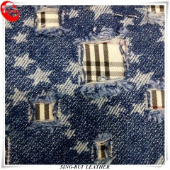 Wholesale Different Color Jean Fabric For Women or Men Shoes