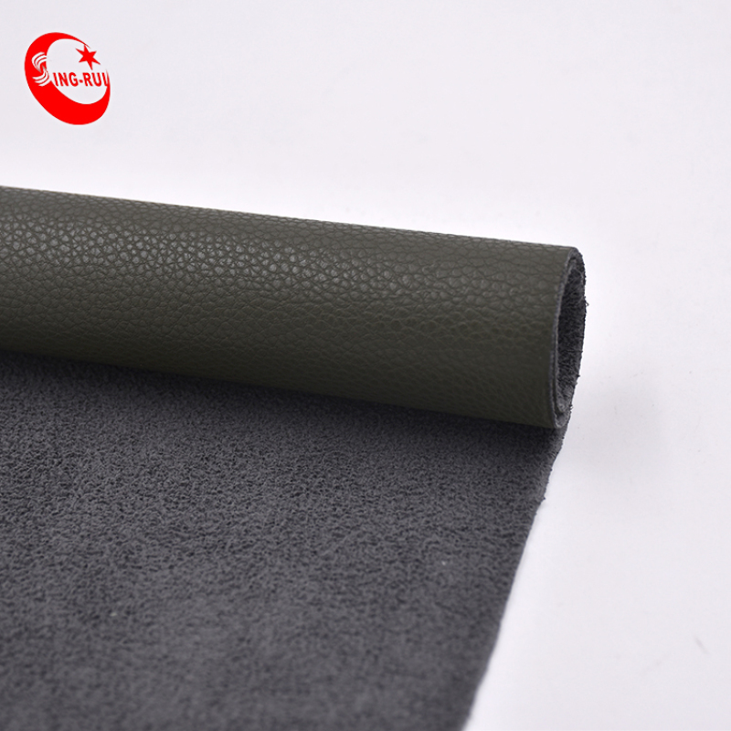 Shoes Suede Leather Material Surface Release Paper Veneer Fancy Pattern Matte Pu Nubuck Faux Leather For Shoes