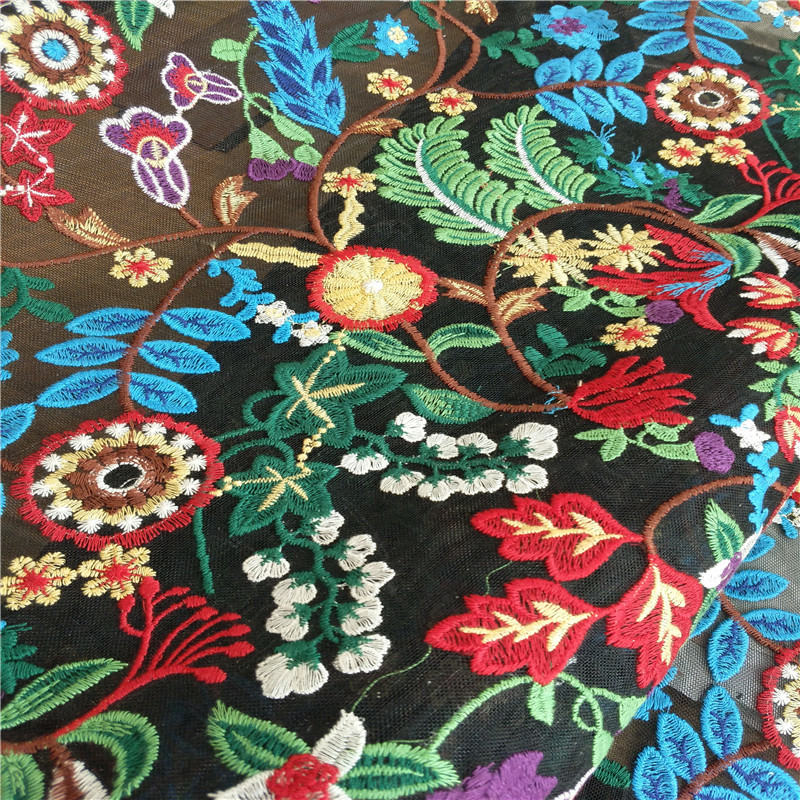 Professional Wholesale Elegant Mesh French Embroidery Lace Fabric