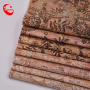 Print Cork Embossed Leather Sheets,Cork Sole Leather
