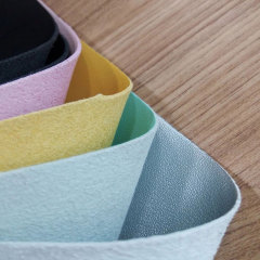 Эко PU из микрофибры из синтетической кожи мягкого однотонного цвета для спортивной обуви