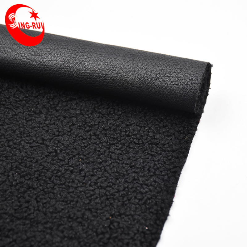 1.4mm Recycled Artificial Leather Lambswool Backing Garment Pu Leather