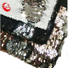 Блестящий материал обуви Ткань с двусторонними пайетками и блестками для обуви