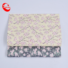 High Quality Colorful Plum Pattern Embellishment Shiny Glitter Fabric Leather Artificial For Decoration Wall Paper