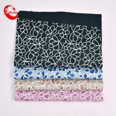 Wholesale New Arrival Sparkly Chunky Colorful Flower Pattern Glitter Sequin Fabric Artificial Leather Wallpaper