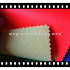 Fluorescent Space pu leather for sport shoe