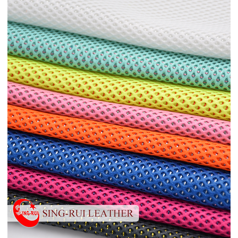 Colorful Breathable Polyester 3D Mesh Fabric for Running Sports Shoes