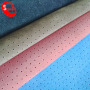 Cuerina Sintetica Para Calzado Punching Pu Flock Synthetic Leather Material For Shoes