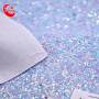 A4 Vinyl Sheet Iridescent Candy Color Chunky Glitter Fabric Solid Sparkly Faux Leather Sheets For Bag Shoes Decoration