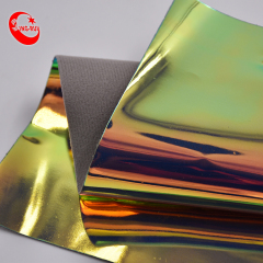 Double Rainbow TPU Designer Leather Shiny Material for fashion shoes