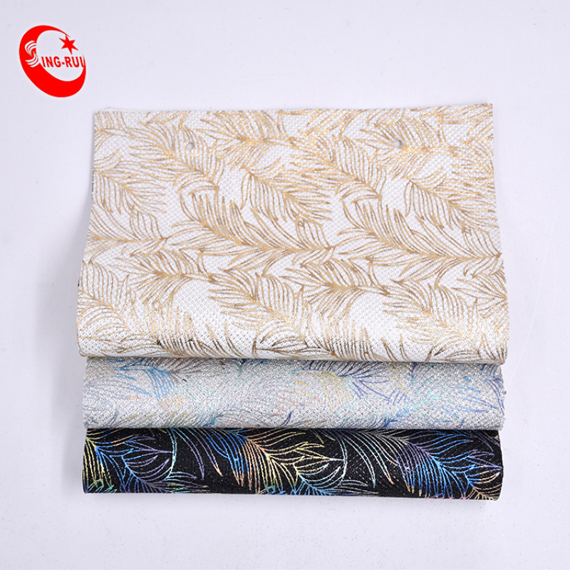 Beauty Embroidery Embossed Chunky Photochromic Glitters Wallpaper Leather A4 Sheet Fabric For Decoration Wallpaper