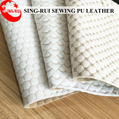 Stitching Embroidery PU Artificial  Leather for Sofa Furniture / Leather Upholstery / Sofa Leather