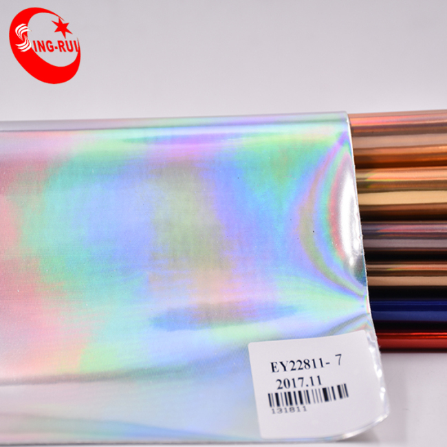 Shoes and Bags Material Stamping Foiled Film Pu Leather