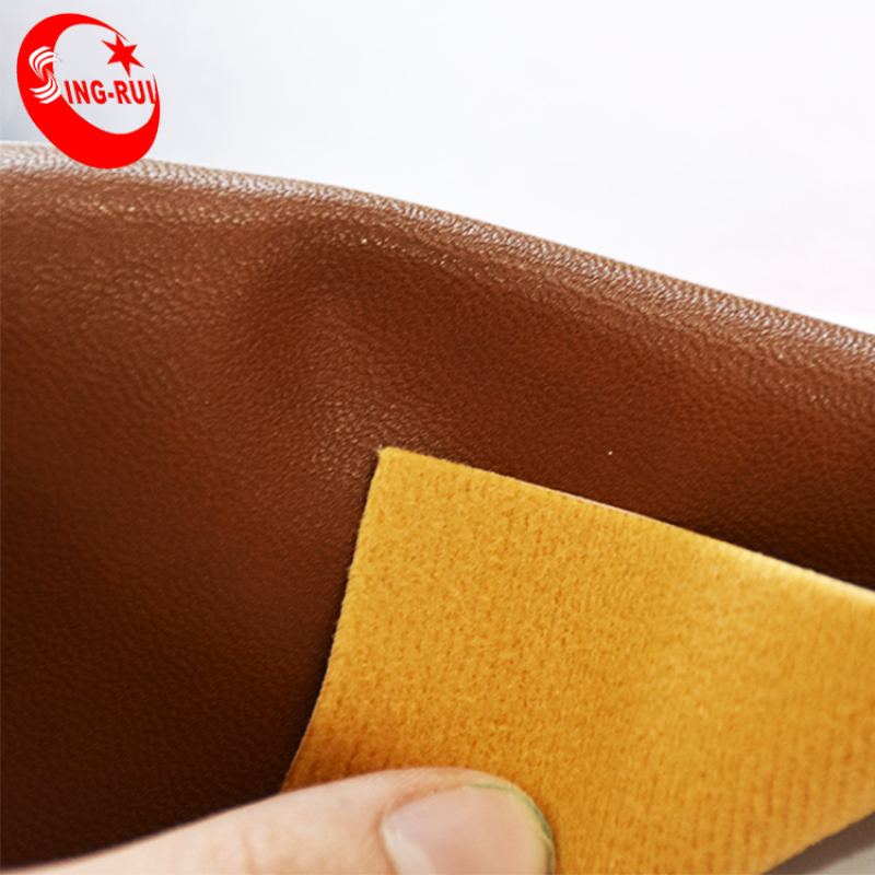 Polished Oiled PU Artificial Leather Fabric Shoes And Bags PU Leather