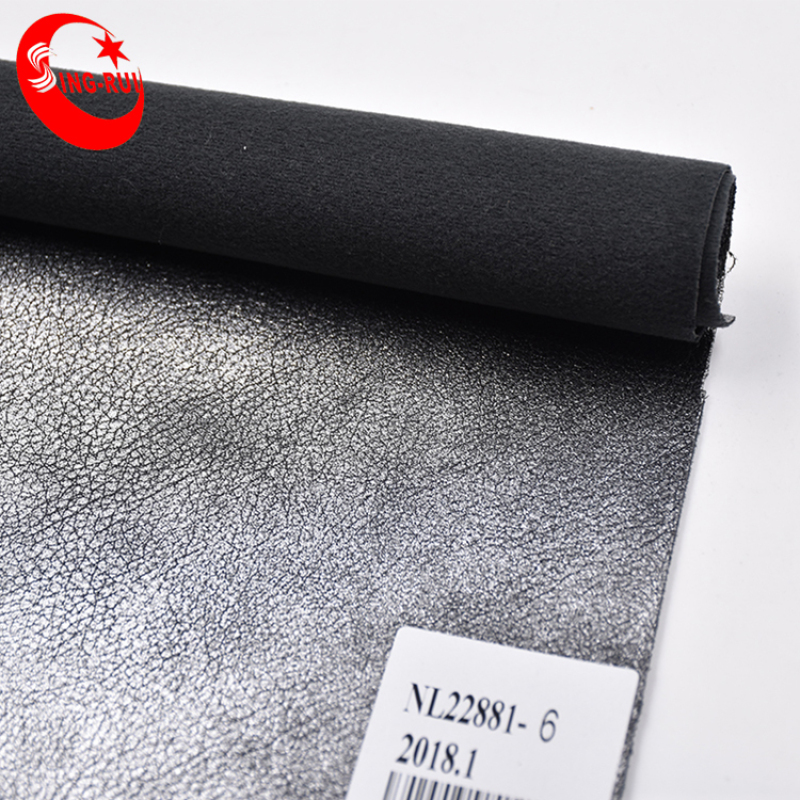 Glitter Oil Fabric Synthetic Leather For Marking Shoes