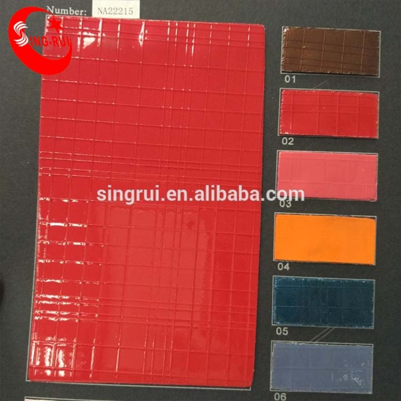 good selling china supplier wholesale shiny mirror pu artificial leather for lady shoes(cuerina sitetica)