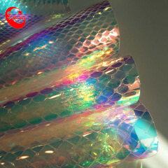 Летняя горячая искусственная кожа, переливающаяся прозрачная пленка из ТПУ, кожа, винил для изготовления обуви