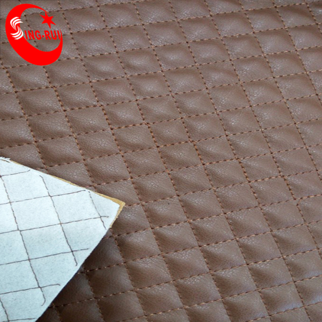 PU Finished Surface Stitches Leather For Men shoes