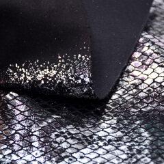 Производитель дешевых тканей на заказ 100 полиэстер вязаный материал змеиной кожи ткань обивка сумка обувь