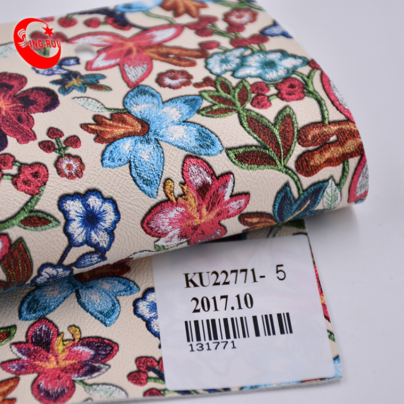 New Arriving Pu Decorative Pattern Shoes Flower Pu Leather