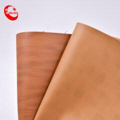 Искусственная кожа ПВХ Коричневая двухцветная синтетическая кожа с тиснением для обуви