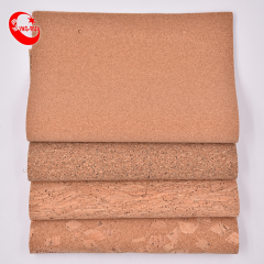 Low Moq Stock Portugal Real Wood Design Printing Cork Fabric Eco-Friendly Textile Pu  Leather Textile For Bag Wallet