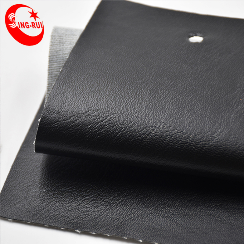 Black pu leather Soft Synthetic leather for garment sell to Colombia