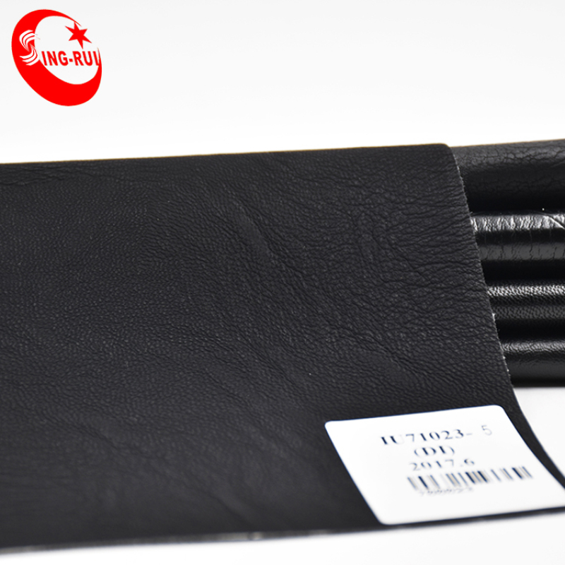 Black leather Soft Synthetic leather for garment sell to Colombia