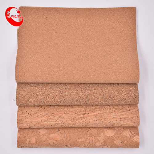 High quality portugal Natural cork fabric no harmful Portugal bag wallet recycle pu vegan natural cork sheet leather