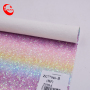 Colorful Rainbow Glitter Decorate Fabric Leather For Make Shoes