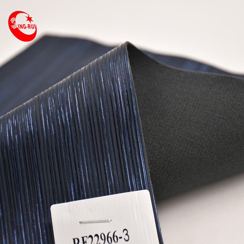 Custom Printing Faux Product Satin 0.85-0.90Mm Wholesale Stripe Gold Pu Synthetic Leather Fabric For Sofa Bag