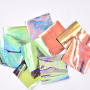 3D Glow In The Dark Rainbow Color Reflective Film Fabric Material Synthetic Pu Tpu Leather For Shoes Bags