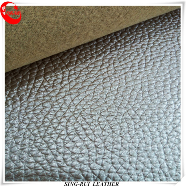1.2mm Lichi Grain PVC Leather For Sofa and Bags