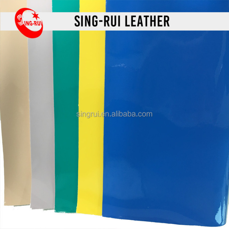 Fluorescent Patent PU Synthetic Leather For Shoes