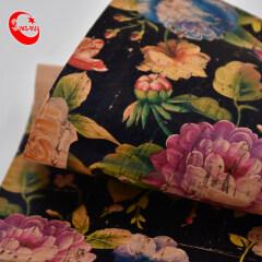 Beautiful Printing Cork Fabric Bag Material