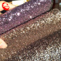 Hot Selling Shiny Chunky Glitter Leather Fabric Wallpaper