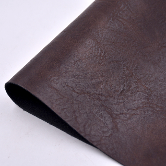 Imitation Cow Synthetic PU Leather Low MOQ for Shoes