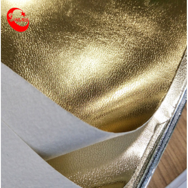 Release Paper Pattern Metallic Foiled Synthetic Shoe Lining Shoe Sole Material