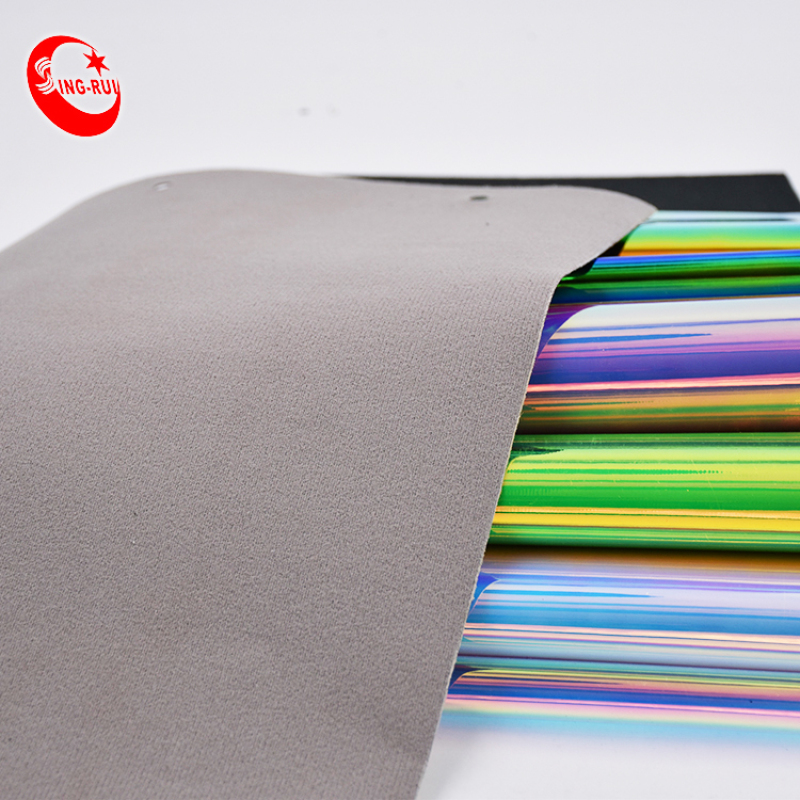 colorful Iridescent TPU Upper Leather Material For Shoes and bags