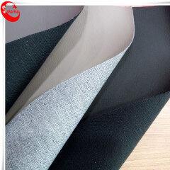 Litchi Grain PU Высокотемпературная 70% кожа, 30% полиэстер Синтетическая кожа высокого давления на спине