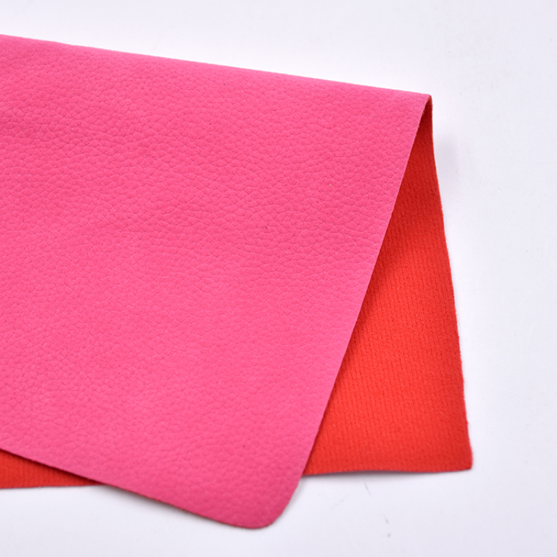 wholesale Leather PU Litchi Backing Cotton Leather PU For Safety Shoes