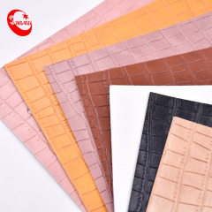 Classic Stone Embossed Pattern PVC Leather Roll Material for Bag