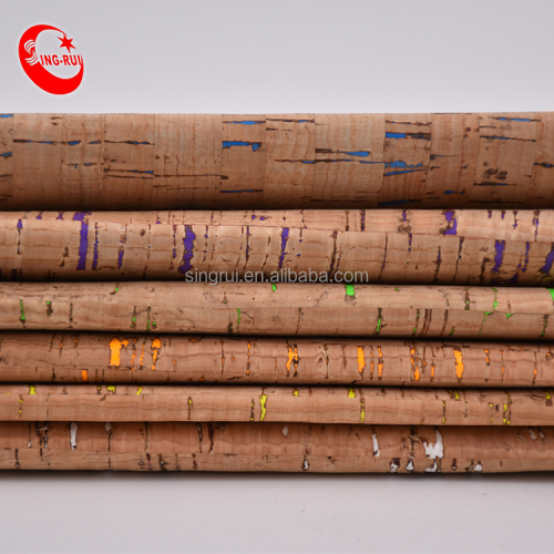 Special Cork Textile Wood Grain Fabric Colored for Notebook