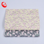 Peach Blossom Pattern Custom Flower Printing Faux Leather Glitter Blingbling Woven Fabric For Bags Shoes Decoration Wall Paper