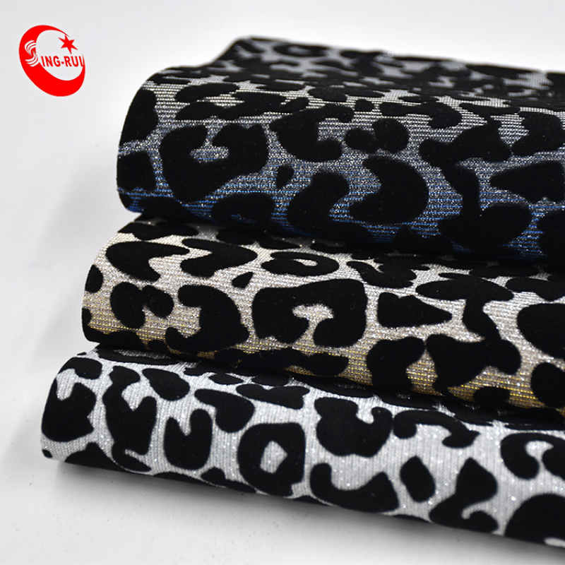 Stocklot Classic Shiny Colors Leopard Printed Fine Metallic Chunky Glitter Faux Leather Fabric Sheet For Bags/Shoes