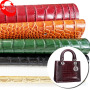 China Supplier Embossed Crocodile Pattern Croc PVC Material Bag Leather Fabric